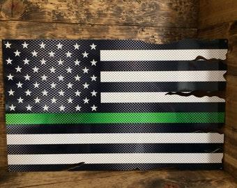 American Flag Thin Green Line