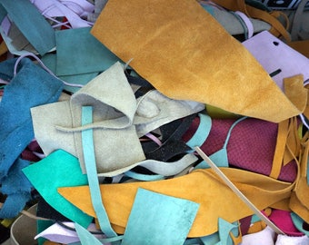 Mixed Suede Leather Scraps 900 gr