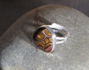 Ring silver Sterling 950 and opal from Koroit, Australia