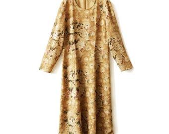 80s vintage Flowers dress /1980s Flowers dress