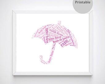 Paris Posters Prints, Paris Instant Download, Paris Poster, Paris Gifts for Her, Digital Downloads, Pink Printables, Paris Wall Art