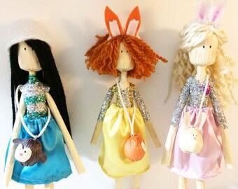Corn husk doll kit