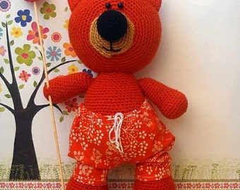 Crochet toy, bear, baby toy, gift for baby,Little bear