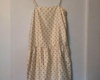 silk polka dot minimalist dress