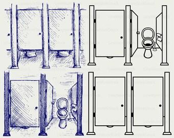 Public Toilet Svgpublic Clipartpublic Svgtoilet Silhouette Cricut
