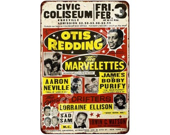 1960 Otis Redding Concert Knoxville Vintage Reproduction Sign 8x12 8121645