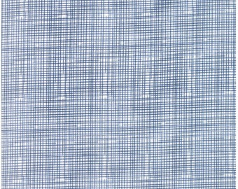 Grid - Navy - HELLO WORLD  - by Abi Hall for Moda Fabrics  - Dark Blue - Childrens - Crosshatch - 35305 11