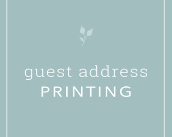 Guest Address Printing