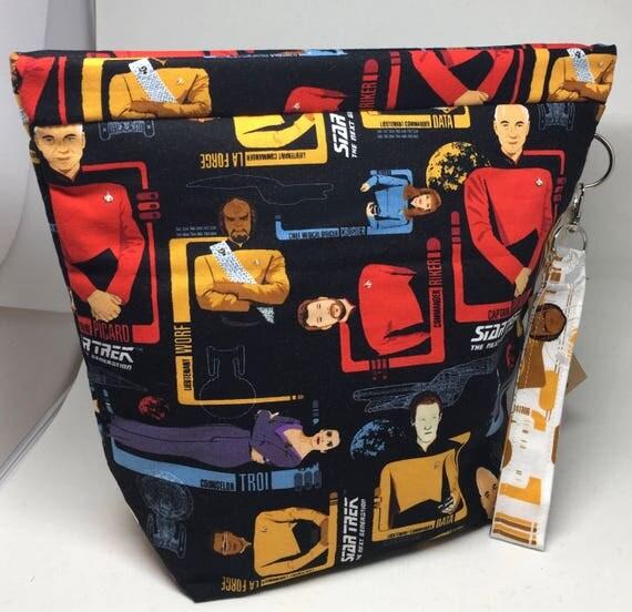 Medium Amy Project Bag, Snap Bag_Star Trek Next Generation