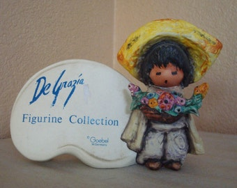 Goebel 1987 Ted DeGrazia Figurine Collection Flower Boy Plaque