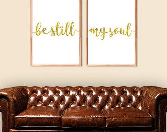 Gold Bedroom Decor Etsy