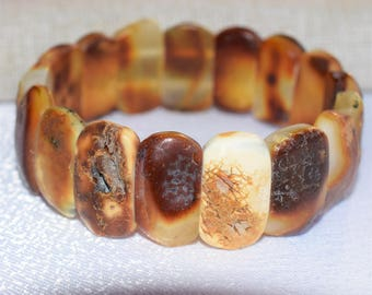 Raw Amber bracelet, Baltic amber, Adult Baltic Amber Bracelet. Baltic amber butterscotch  bracelet. Handmade for men and women