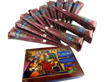 12  Henna cones- Brown color henna kit Natural Henna paste self making Body Tattoos- henna tattoo kit - Dark Output color