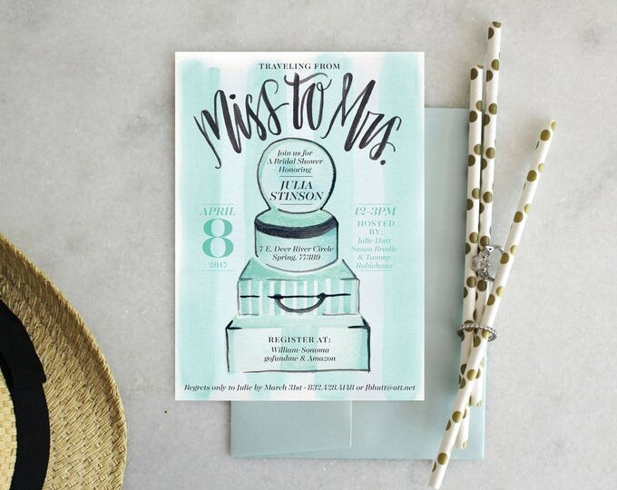 PRINTABLE Bridal Shower Invitation | Miss to Mrs.