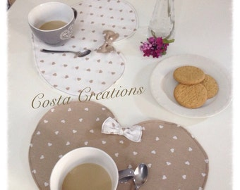 Placemats breakfast chic romantic