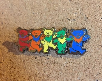 Grateful Dead Bears Hat Pin