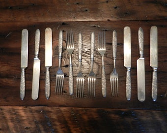 Poppy Knives and Forks by Rogers Bros.