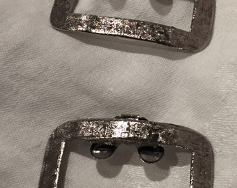Musi silver tone buckle shoe clips