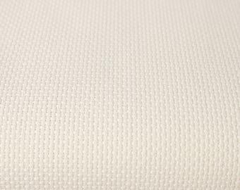 """Ecru Aida Fabric 14ct Sold per 4"""" / 10 cm Fabric Cross Stitch DMC 100% Cotton 14ct Ecru Fabric Embroidery Ecru Cross Stitch Supply"""