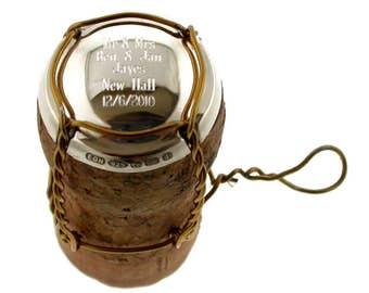 Sterling Silver Champagne Cork cap