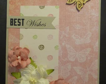 Floral Best Wishes Card 1538
