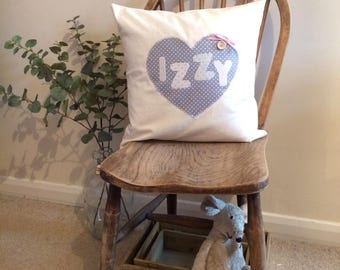 Personalised Cushion Children's Christening New Baby Boy Girl Gift