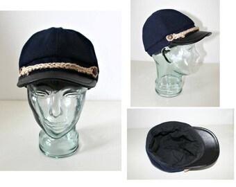 Handmade Wool hat Unisex hat Newsboy cap Baker Boy Cap Sun hat Edwardian Peaky Blinder Made in Ireland Bohemian Unique Repurposed Wool hat