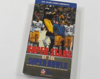 NFL Films Video Super Stars of the Super Bowls VHS NFL1190 Classic 1980s Football