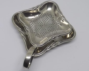 Rare Beehive Mark 1925-1935 WMF Silver Plated Tea Strainer and Stand