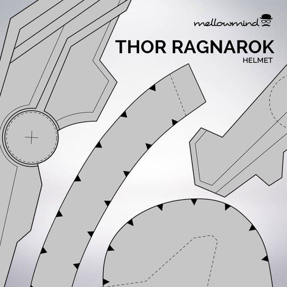 diy thor ragnarok thor helmet templat for eva foam from mellowmindcosplay on etsy studio. Black Bedroom Furniture Sets. Home Design Ideas