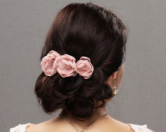 Wedding Hair Flower, Hair Flower, Wedding Flower, Bridal Flower, Corsage Flower, Bridal Flower Comb, Flower Hair Clip, Flower Lapel Pin