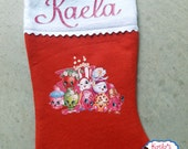 Shopkins Stocking,Shopkin Christmas Stocking,Custom Christmas Stocking,Personalized Christmas Stocking,Christmas Shopkin Stocking,Stocking