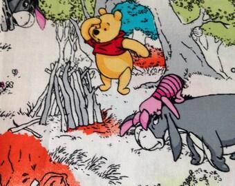 Disney Winnie the Pooh Bear Tigger EEyore Cotton Fabric FQ 1/2 Metre Metre Quilting Sewing