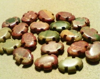 Picasso Jasper beads; rare & unusually shaped, pretty Picasso Jasper beads, 18x13x5mm, 5pcs/3.60.