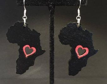 Africa Heart Earrings.