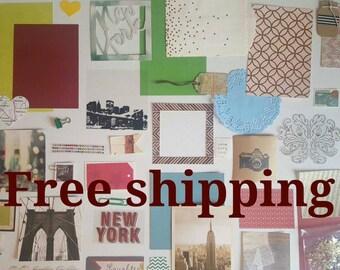New York theme kit. Junk journal kit, art journal kit, mixed media kit, smash journal, paper ephemera & pocket letter kit. Free shipping.