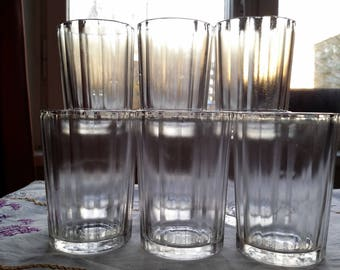 Soviet faceted glasses. 9 pieces. Granyonka