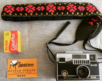 Camera Strap, vintage trimming, Limited edition