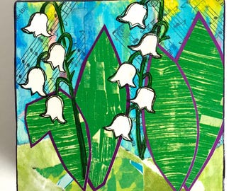 Lily of the Valley, Mixed Media Art, Original Art, Collage