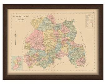 Queens County - Memorial Atlas of Ireland 1901