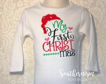 First Christmas Shirt, Personalized Christmas Shirt, Christmas Shirt, First Christmas, babies first christmas, First Christmas Bodysuit