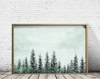 Forest Print Forest Wall Art Forest Art Tree Print Tree Wall Art