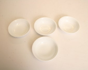 """4 Vintage Corning Corelle 5"""" Berry Bowl Lot crazy daisy Green Spring Blossom mid century modern cereal dish flower trim 14913"""