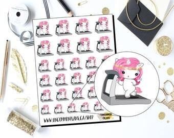 Mystique Unicorn Workout Planner Stickers / Unicorn Working Out Planner Stickers / Workout Stickers / Kawaii Unicorns Planner Stickers