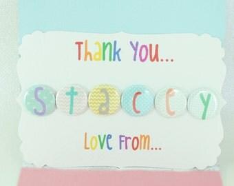 Personalised Magnets   Teacher   Teaching Assistant   Nursery Assistant   Keyworker Gift   Alphabet Fridge Magnet   Thank You Present   UK