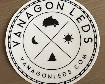 "VanagonLEDs 5"" circular vinyl sticker"