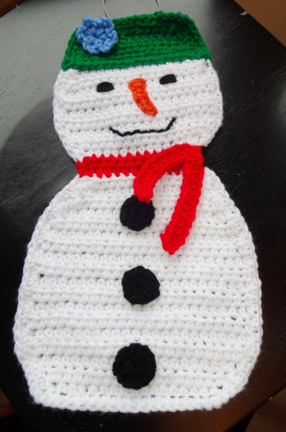 Large Holiday Snowman Crochet Pattern from ...