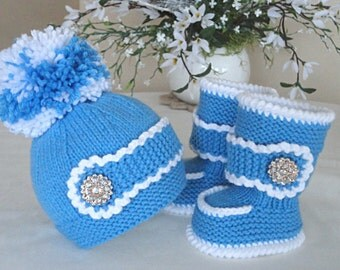 Crochet Baby Set Crochet Baby Shoes Baby Hat Crochet Baby Beanie Baby Winter Set Knitted Baby Set Baby Booties Baby Shoes