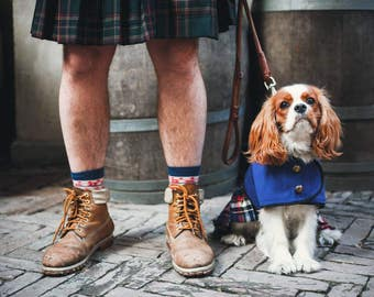Scottish  Kilt Dog Coat - Dog Coat - Dog Clothing - Pet Clothes - Available to Any Breed