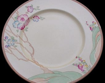 Large Clarice Cliff Chippendale Plate - 1930's Art Deco